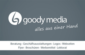 Visitenkarte goody media – Back