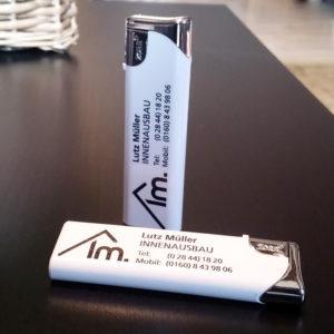 Werbeartikel – Feuerzeug-Bedruckung (Elektrofeuerzeug)
