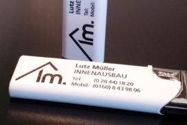 Bedruckte Feuerzeuge für Lutz Müller – Innenausbau